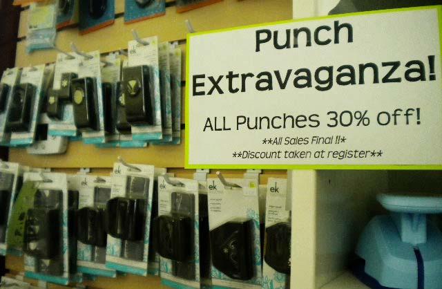 Punch sale